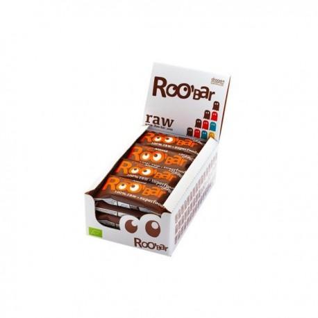 Cacao nibs & almond 20 barras 30 gramos Marca Roobar