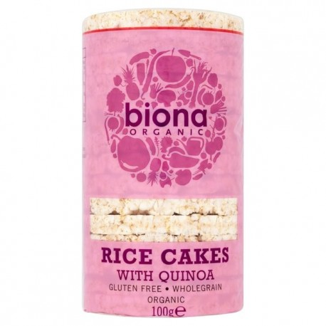 RICE CAKES WITH QUINOA WHOLE GRAIN ORGANIC 100GRS