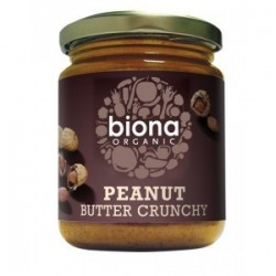 PEANUT BUTTER CRUNCHY WITH SALT ORGANIC 250GRS