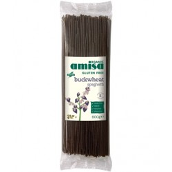 Spaguetti buckwheat organic gluten free 500 gramos Marca Amisa