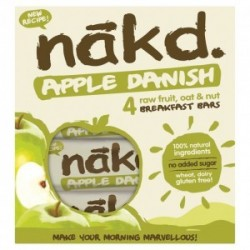 Apple danish 30 gramos multipack 4 barras Marca Nakd