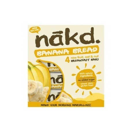 Banana bread 30 gramos multipack 4 barras Marca Nakd