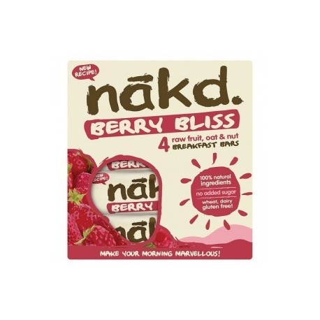 Berry bliss 30 gramos multipack 4 barras Marca Nakd