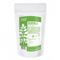 Moringa powder raw organic 200 gramos Marca Dragon