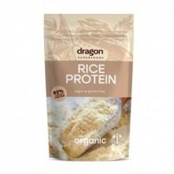 Rice protein 83% organic 200 gramos Marca Dragon