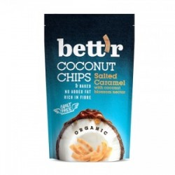COCONUT CHIPS SALTED CARAMEL ORGANIC 70GRS