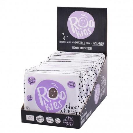 CHOCO CHIP HAZELNUT ORGANIC COOKIE (18 X 40GRS)