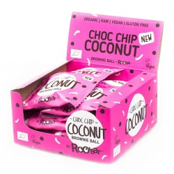 COCONUT CHOCOLATE CHIPS ORGANIC BROWNIE (12 X 40GRS