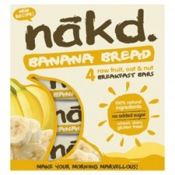 BANANA BREAD MULTIPACK 4 BARS 35 GR - OFERTA