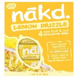 Lemon drizzle multipack 4 baras 35 gramos Marca Nakd