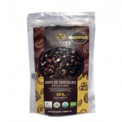 COBERTURA CHOCOLATE ORGANICA ARAWI 60% GOTAS 140 GR
