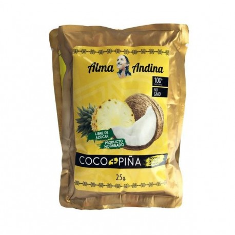 TROCITOS DE COCO NATURAL + PIÑA 25 GR