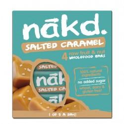 Salted caramel 35 gramos multipack 4 barras Marca Nakd