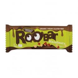 Chocolate covered hazelnut bar 16 x 30 gramos Marca Roobar