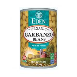 Garbanzo beans organic 425 gramos Marca Eden