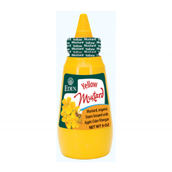 Yellow mustard organic- Squeeze bottle 255 gramos Marca Eden
