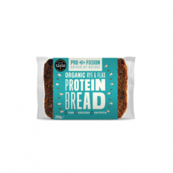Protein bread rye & flax organic 20,5 g protein 250 gramos Marca Profusion
