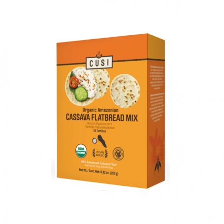 Organic cassava flatbread mix 250 gramos Marca Cusi