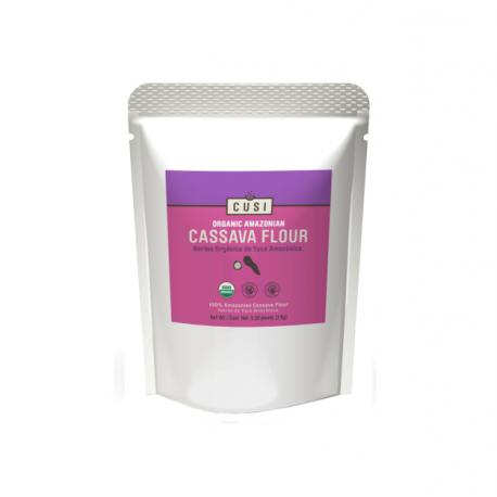 Organic cassava flour 400 gramos Marca Cusi