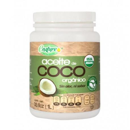 Aceite coco organico sin olor y sin sabor 1 litro Marca E Nature
