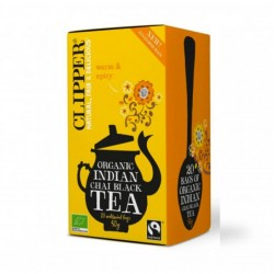 Black tea indian chai 20 bags Marca Clipper