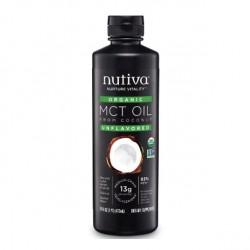 Aceite de coco mct organico 473 cc Marca Nutiva