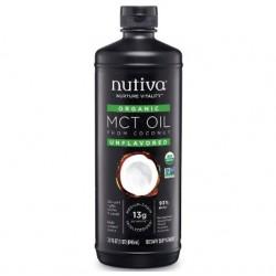 Aceite de coco mct organico 946 cc Marca Nutiva