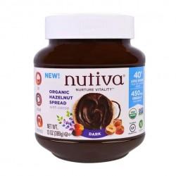 Crema de avellanas dark 369 gramos Marca Nutiva