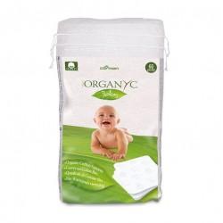 Toallas compactas algodon para bebe de 60 unidades Marca Organyc