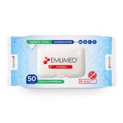 Toalla antibacterial higienizante 50 unidades Marca Emumed