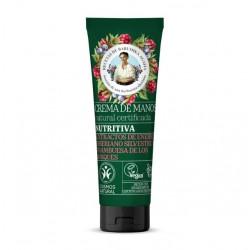 Crema de manos nutritiva 75 cc Marca Babushka Agafia