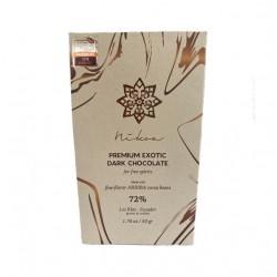 Barra chocolate 72% 50 gramos Marca Nikoa