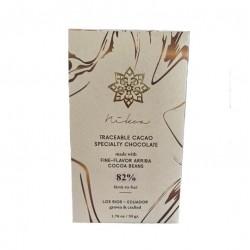 Barra chocolate 82% 50 gramos Marca Nikoa