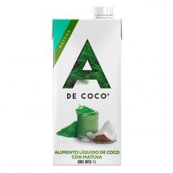 Bebida de coco con matcha 1 litro Marca A de coco