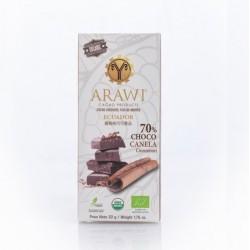 Barra choco canela organica 70% 50 gramos Marca Arawi