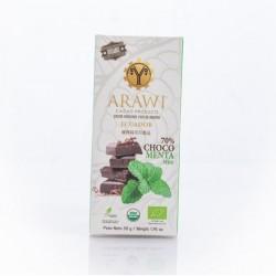 Barra choco menta organica 70% 50 gramos Marca Arawi